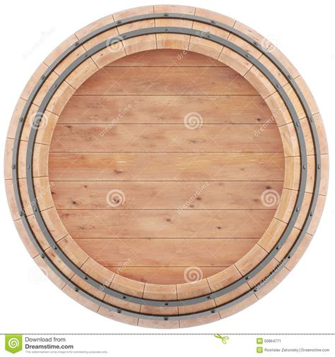 Barrel Top wine whiskey rum barrel top view stock
