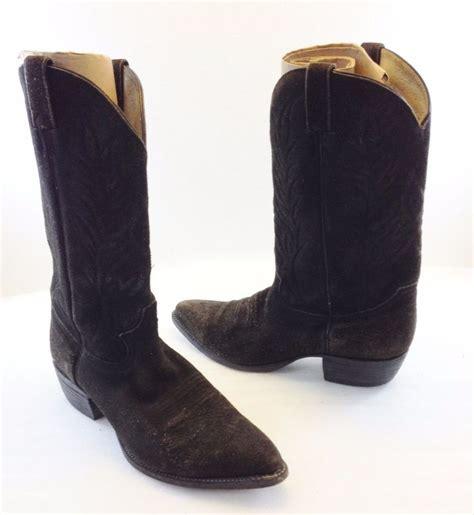 mens black suede cowboy boots j black suede cowboy western boots mens 10 5 d