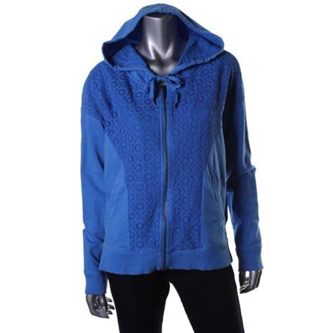 Hoodie Zipper Dkny dkny 1333 womens lace overlay zip front sleeves hoodie top juniors bhfo ebay