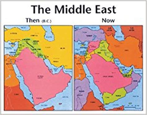 middle east map bible times the middle east then and now testament