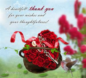 Thank you card from the heart for any kind of occasion
