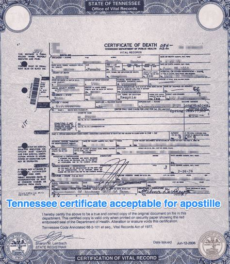 Marriage Records In Tennessee Tennessee Apostille Apostille Service By Apostille Net