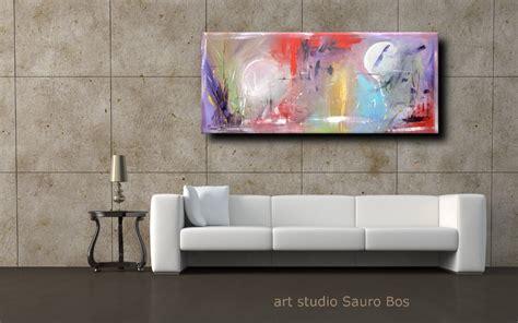 quadro soggiorno moderno quadri astratti lunghi sauro bos