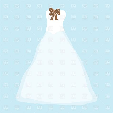 lace wedding dress clipart white wedding dress with brown bow royalty free vector