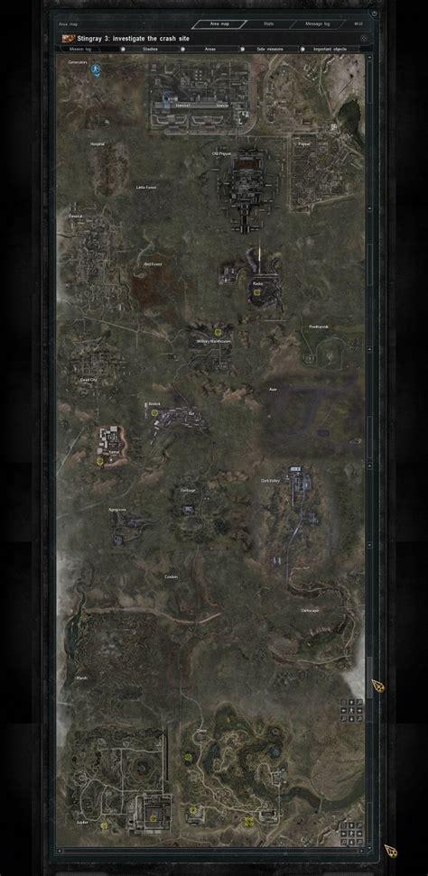 global map wip image smrter pripyat mod  stalker call  pripyat mod db
