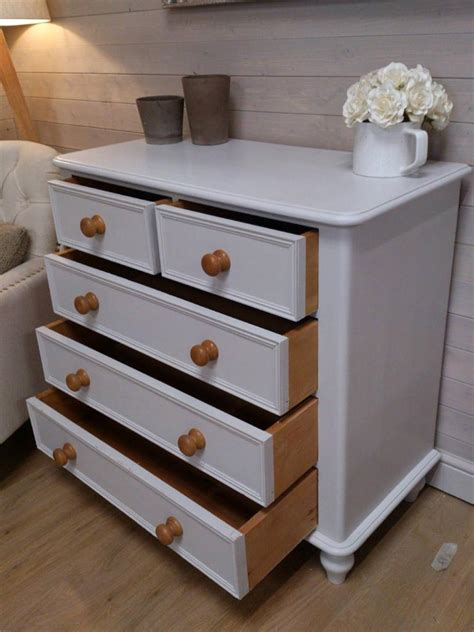 cute solid pine painted chest of drawers shabby chic painted bedroom furniture ebay