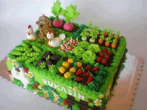 Garden Cakes Ideas Garden Cake Cake Decorations Pinterest Gardens The Chicken And The O Jays