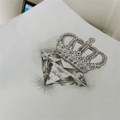 tattoo diamond crown diamond queen pinteres