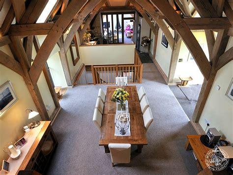 Small Loft Bedroom Ideas interior of green oak framed barn conversion in devon