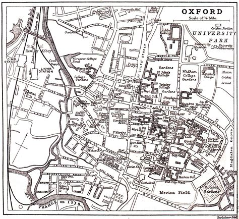 map of river thames in oxford plan of oxford from circa 1900