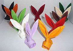 serviette fächer falten pliage de serviette de table en forme de lapin table de