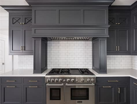 Hot New Kitchen Trend: Dark Cabinets, Subway Tile