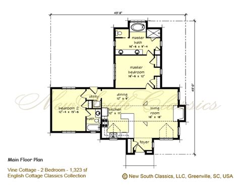 2 bedroom cottage floor plans 2 bedroom cottage plans house plans home designs