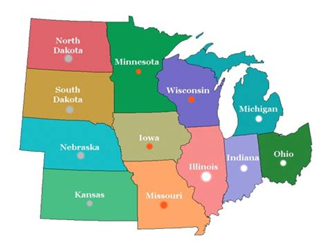 map of midwest states map of the midwest clipart best