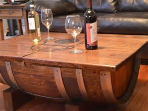 Wine Barrel Coffee Table Wine Barrel Coffee Table By Planksdesign On Etsy
