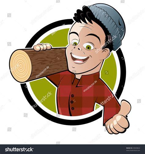 Funny Cartoon Lumberjack Stock Vector 93830824 Shutterstock