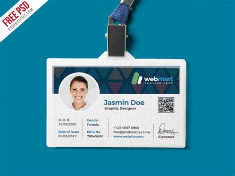 identity card design template free psd office id card design psd by psd freebies