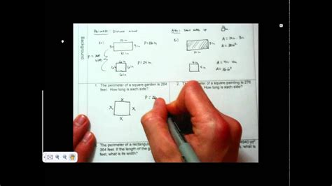p  finding  side length   rectangle
