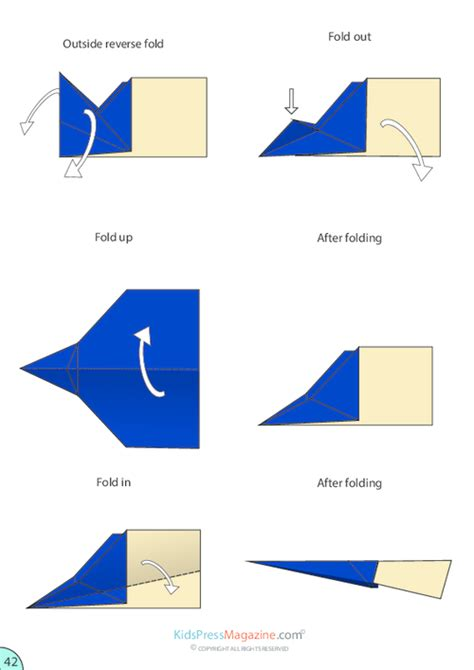 How To Make A Glider Paper Airplane Step By Step - paper airplane glider supreme printable