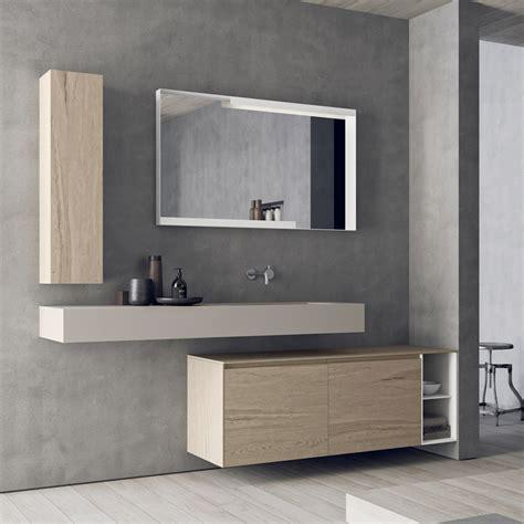 modern wall mounted bathroom furniture set calix novello