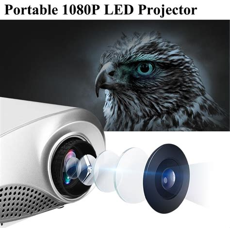 Portable Mini Led Projector Gm60hd new mini projector hd portable 1080p 3d hd led