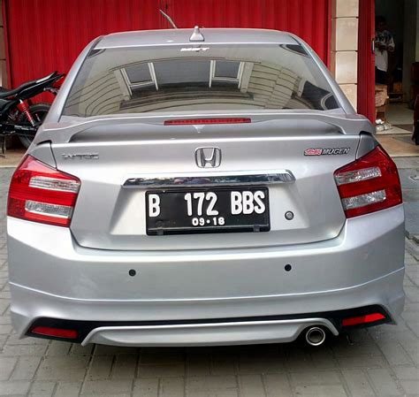 Spoiler Honda City jual trunk spoiler modulo with brakel honda city 2008