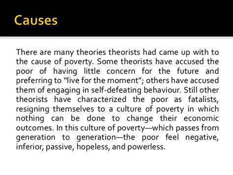 Causes Of Poverty Essay by Causes And Effects Of Poverty