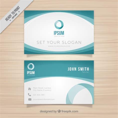 green modern business card template vector free