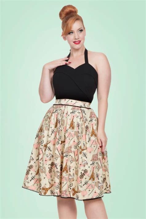 50s Swing Skirt by 50s Marienne Swing Skirt In