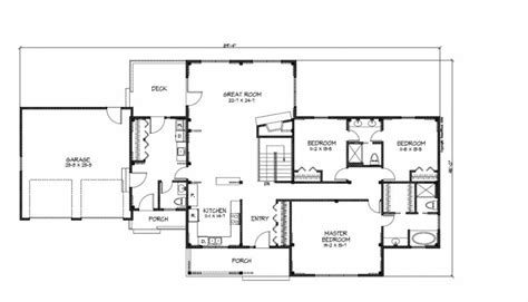 ranch house blueprints floor plans ranch style homes home house bedrooms plan executive ranch style home plans ideas
