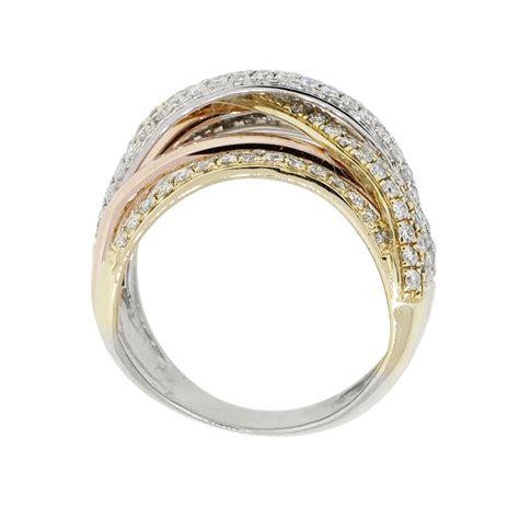 effy 14k tri gold 2 25ctw crossover ring