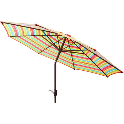 Outdoor Patio Umbrellas Patio Umbrella 9 Aluminum Patio Market Umbrella Tilt W Crank Outdoor Walmart