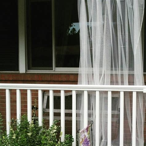 outdoor window curtains one white outdoor curtain sheer net lace garden panels