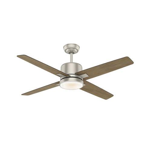 casablanca 52 ceiling fan casablanca axial 52 in led indoor matte nickel ceiling
