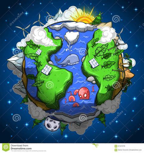environmentally friendly earth planet stock vector image