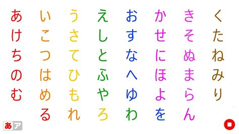 Letter Japanese Song Learn Japanese Alphabet Hiragana By Aiue Song ひらがな あいうえのうた