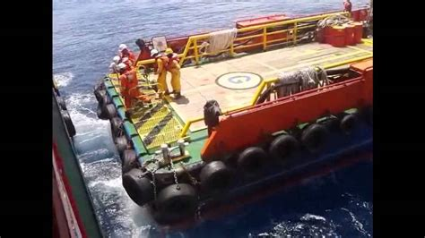 swing rope offshore offshore boat transfer youtube