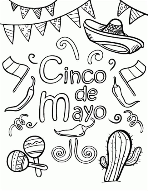 cinco de mayo coloring pages the best of coloring pages for check