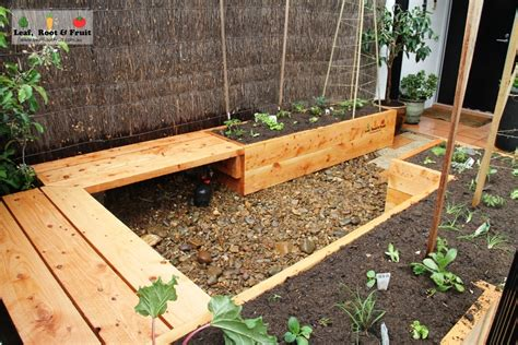 raised garden bed with bench seating south yarra herb and veggie garden raised cypress garden