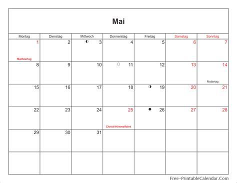 Mai Kalender 2017 2017 German Calendar Free Printable Calendar Templates