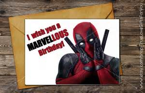 deadpool birthday card deadpool birthday card printable greeting card instant