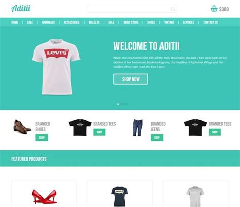 Aditi A Flat Ecommerce Responsive Web Template Is A Web Design Template Which Can Be Used For Free Website Templates Mobile Compatible