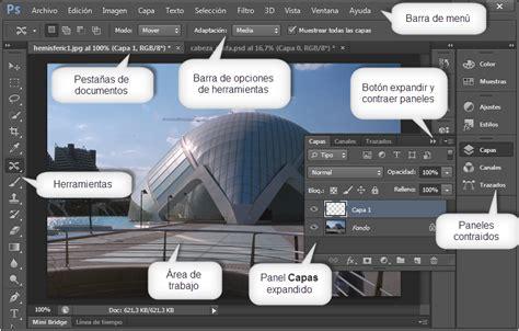 barra superior illustrator curso gratis de photoshop cs6 aulaclic 2 el entorno de