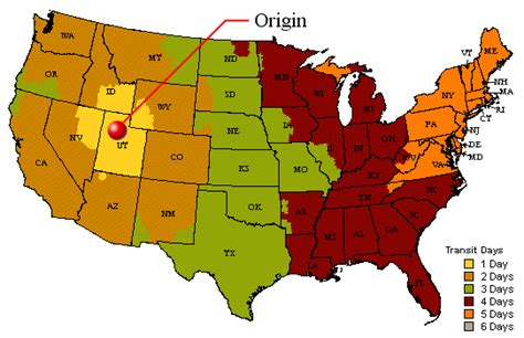 usa map ups ups tracking information delivery service from ups