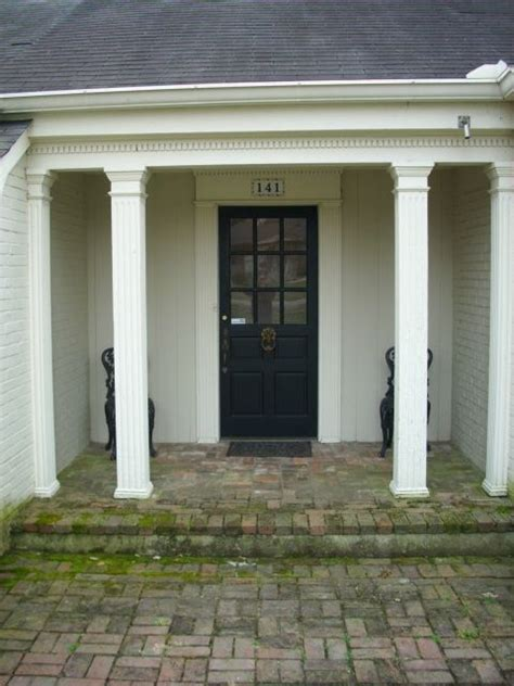 Front Porch Pillars With front porch columns remodel ideas