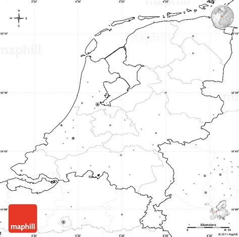 netherlands map blank blank simple map of netherlands no labels