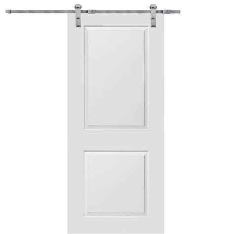 32 X 80 Barn Door by Mmi Door 32 In X 80 In Primed Molded Mdf Carrara Barn