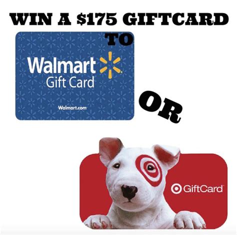 Win A Gift Card To Walmart - win a 175 gift card to walmart or target myfreeproductsles com