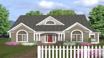Single Story House Plans With Wrap Around Porch by One Story House Plans With Front Porches One Story House