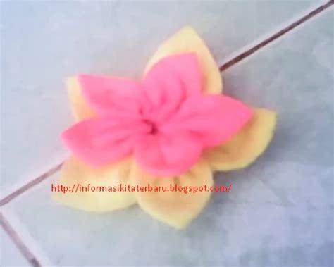 tutorial membuat bros bunga flanel cara membuat bros dari kain flanel yang mudah dan lucu